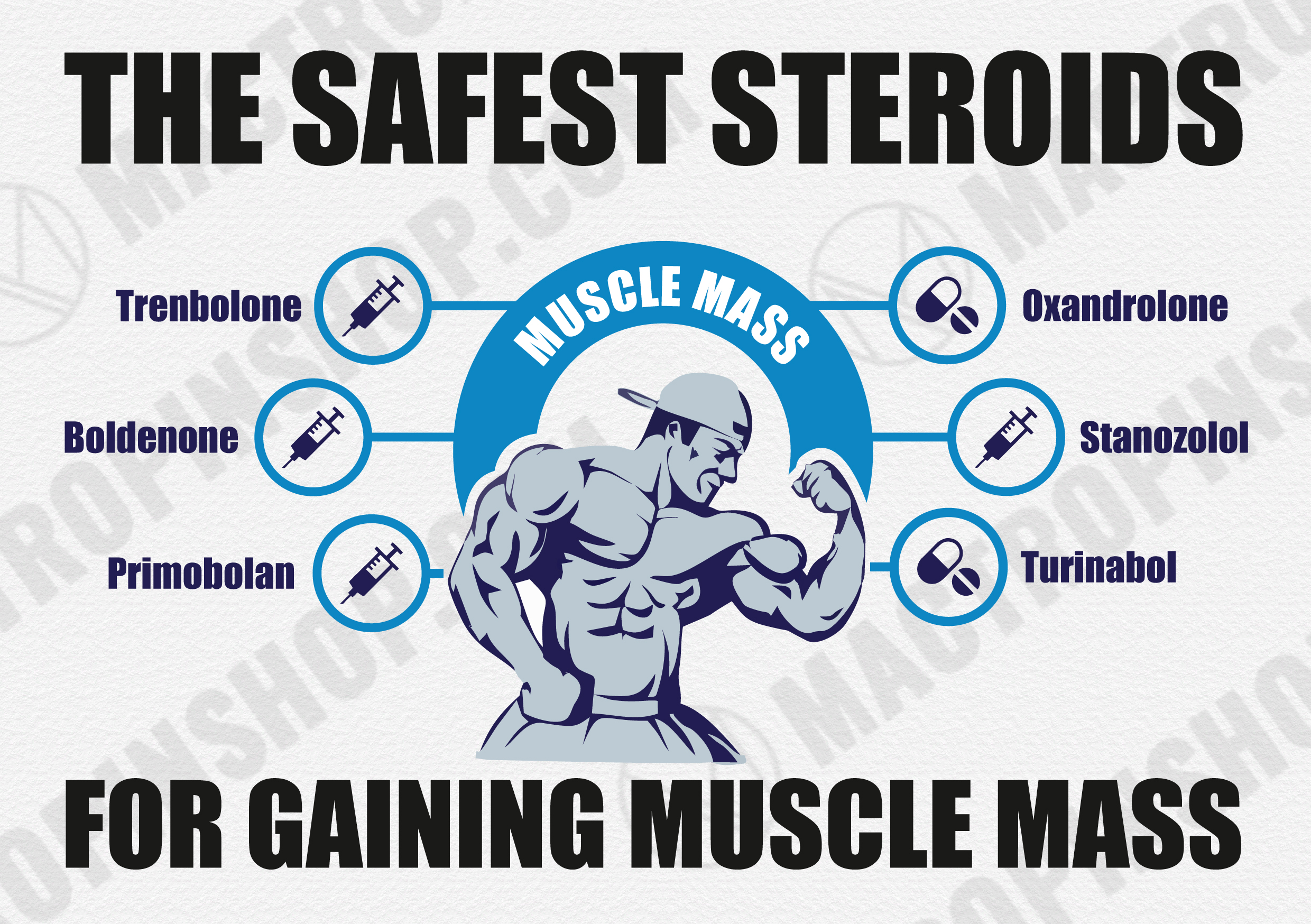 6 Best Safe Steroids for Muscle Gain